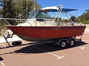 5.8m Trailcraft aluminium solid plate boat Canning Vale Canning Area Preview