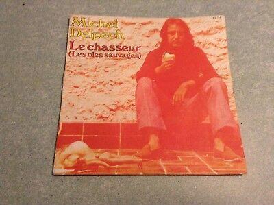 Disque vinyle 45 tours B2 /michel delpech, le chasseur