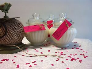 Lychee & Black Tea Ribbed Glass Jar Natural Soy Candle Bidwill Blacktown Area Preview