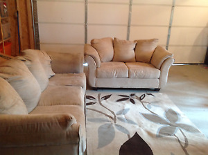 Sofa loveseat, leather couch and rocker!