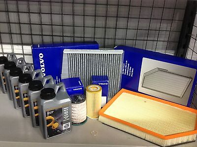 Genuine Volvo Full Service KIt XC60 D5 Oil/Air/pollen/Fuel/Filters And Oil 6ltrs