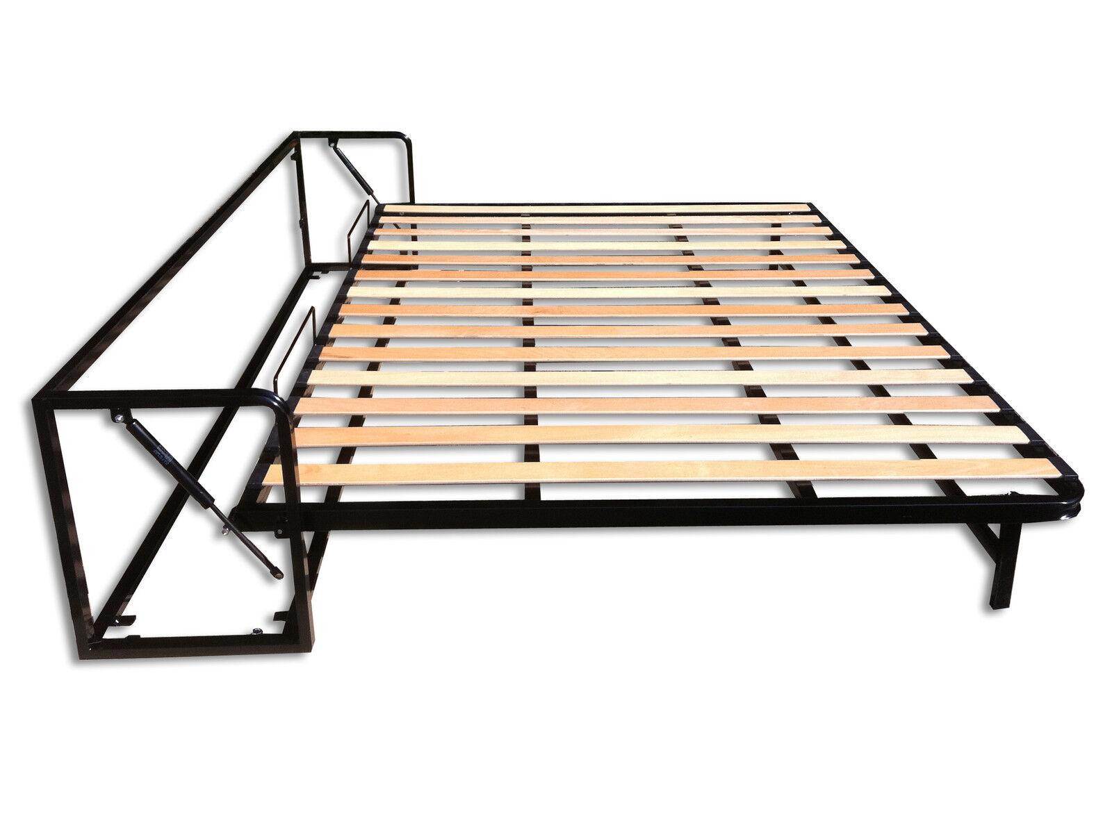 Somier cama abatible horizontal cama empotrable horizontal - Cama pared plegable ...