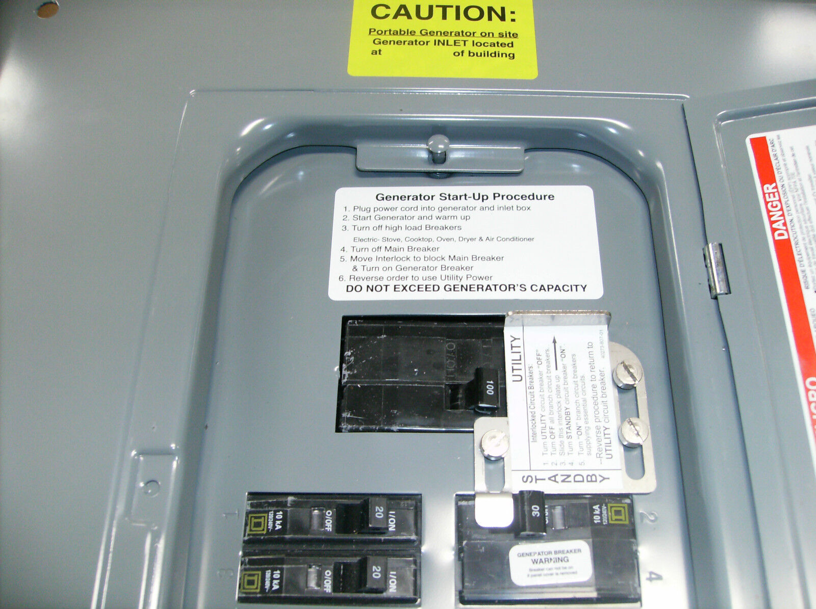 Fac Qo100 Square D Qo Generator Interlock Kit 100 Amp Panel Factory Circuit Breaker Used Cutler Hammer Ed3150 150 Listed
