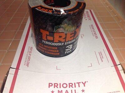 T-rex Ferociously Strong Duct Tape 3 Rolls Each 1.88 In. X 35 Yd. Grey