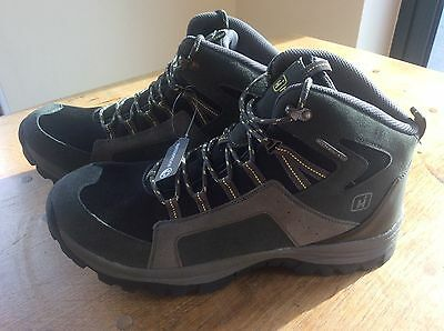 HI-GEAR Waterproof Mens Hiking Walking Trekking Boots UK 12 Charcoal New in Box