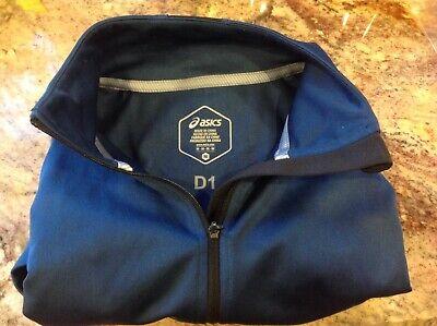 Aasics Lightweight Polyester Jacket Mens Full Zip slate Blue activewear MED jog