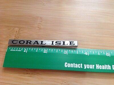 LIONEL & MTH PREWAR STD GAUGE NICKEL PASSENGER CAR NAME PLATE CORAL ISLE