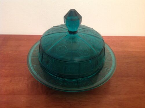 Doric & Pansy Ultramarine Butter Dish with Lid, Great Cond. 1937-1938