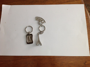 New Eiffel Tower and Arc de Triumph Silver Ton Key Chains