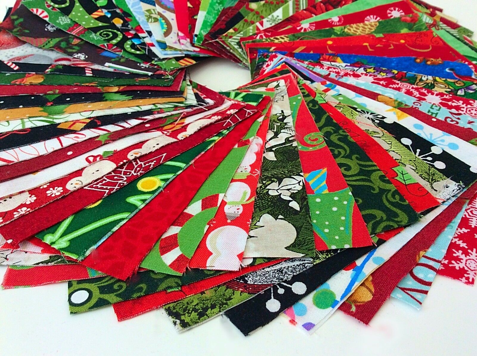 Christmas Fabric Charm Pack Lot - 100% Cotton Quilting Fabri