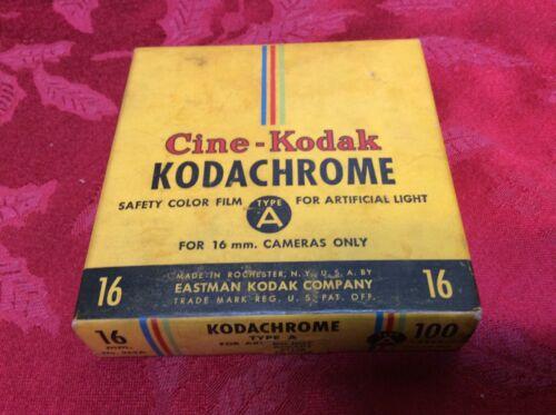 Sealed 100 FT Cine-Kodak Kodachrome Color 16mm Movie Film  1950 Sealed.