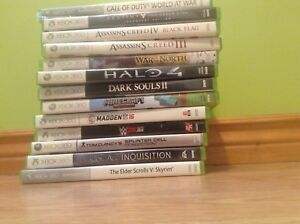 13 Xbox 360 games 2 controllers that don't have there bumpers