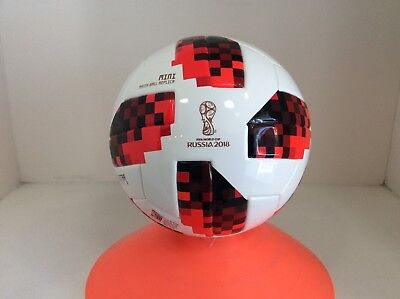 (Adidas Fifa Russia 2018 World Cup Soccer Mini Ball Size 1 Telstar White And Red)