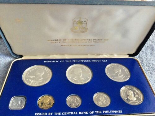 1975 Republic of the Philippines Central Bank Proof Coin Set; Franklin Mint