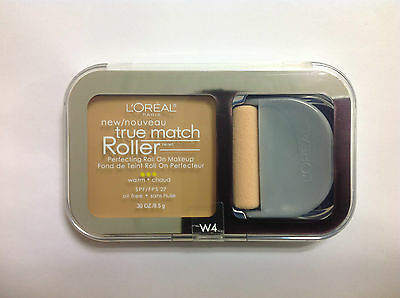 Natural Perfecting Powder Foundation - L'Oreal True Match Roller Perfecting Roll On Makeup NATURAL BEIGE #W4 NEW.