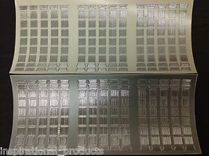 10 Sheets of Silver SMALL BARS Religious Peel Off Outline Stickers.