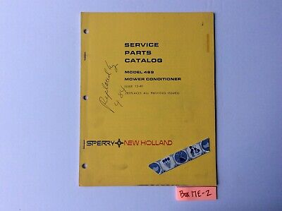 New Holland 489 Mower Conditioner 12-81 Service Parts Catalog