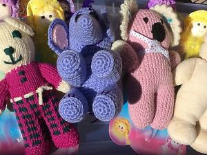 Knitted Toys and Doll Pens Lot Armidale Armidale City Preview