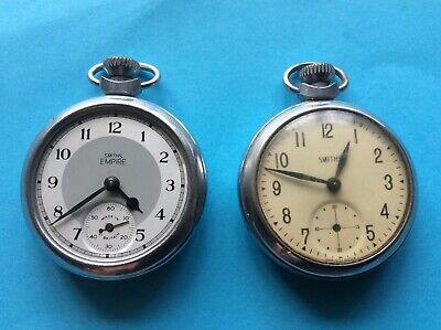 2 X Smiths Pocket Watches Made in Gt Britain 65 and C3R Empire spares and repair