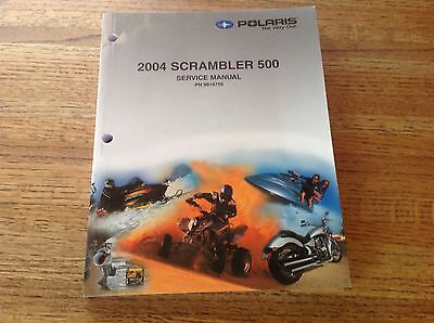 OEM Polaris 2004 Scrambler 500 ATV Service Manual PN: 9918756 w/CD