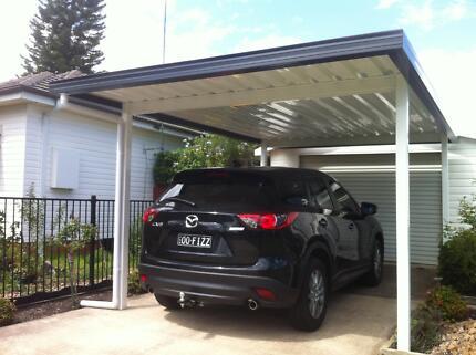 Solarguard Colorbond Carport Freestanding Kit DIY. Free Delivery