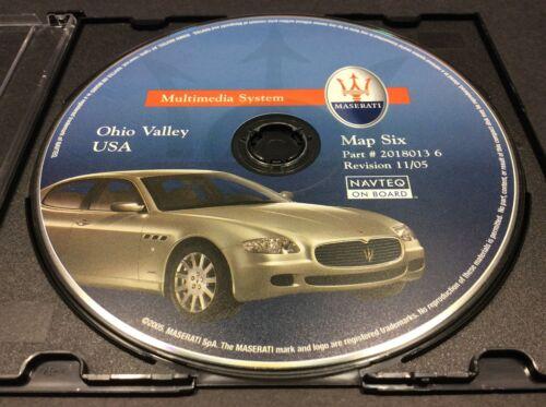 MASERATI NAV GPS DVD CD DISK MAP SIX 6 2018013 6 11/05 OHIO VALLEY USA #CD63