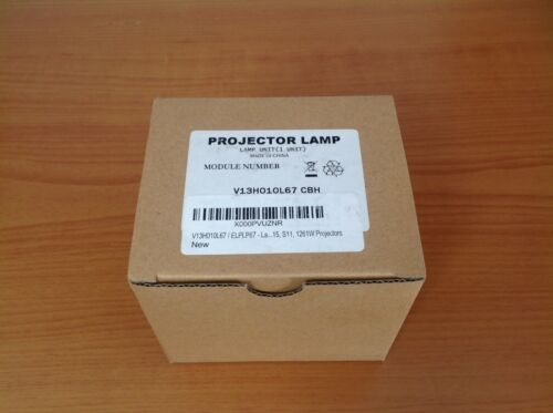 ELPLP67 / V13H010L67 Replacement Lamp Crystal Clear, Brighter Picture for EPSON