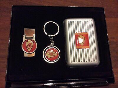 NFL kanas city chief gift set money clip, key chain, & card holder - Key Holder Gift