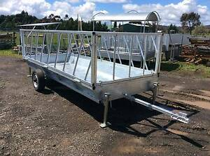 ROUND HAY FEEDER TRAILER,FEED LOT Lancefield Macedon Ranges Preview
