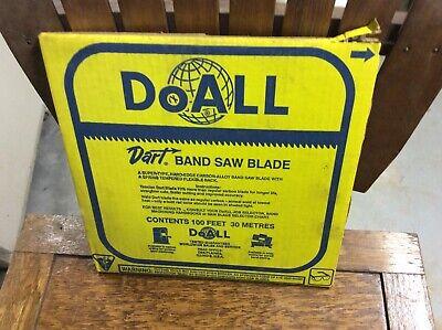 Doall Dart Band Saw Blade Coil 38x14 Dart Raker 100 Ft Coil