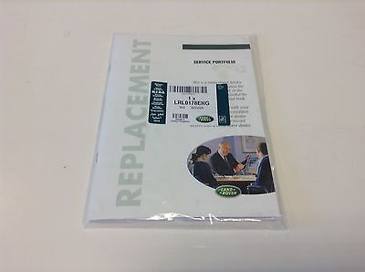 GENUINE LAND ROVER & RANGE ROVER REPLACEMENT SERVICE BOOK (LRL0178ENG)