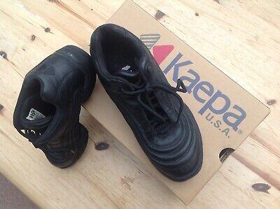 KAEPA USA Black Split Sole Dance Jazz Boots size 5.5 Boxed Barely Worn Lace Up