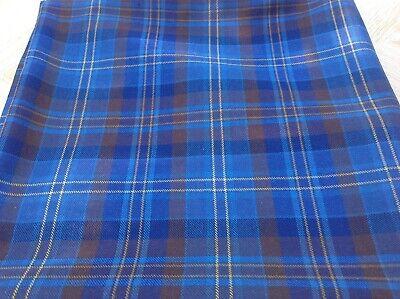Vintage 1970's / 1980's  good quality fine wool tartan 1580 length X 1620 wide
