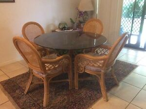 Cane Dining Table and Chairs Nudgee Brisbane North East Preview
