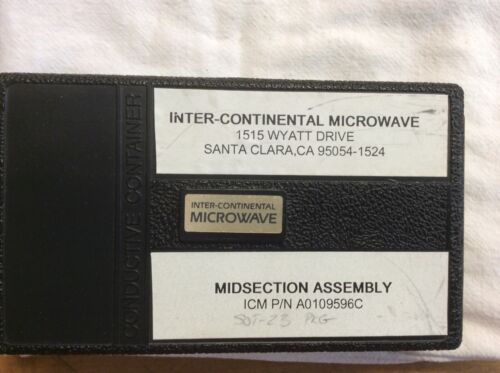 ICM A0109596C Midsection Assembly Inter-Continental Microwave Test Fixture Kit