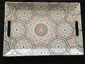 Melamine tray, Moroccan mosaics design, rectangular