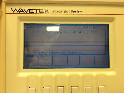 Wavetek Sweep Test System Benchmark 1175 Rf Scalar Analyzer Manual 2 Cables