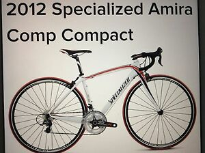 2012 Specialized  Amira women's road bike & tac x VR trainer
