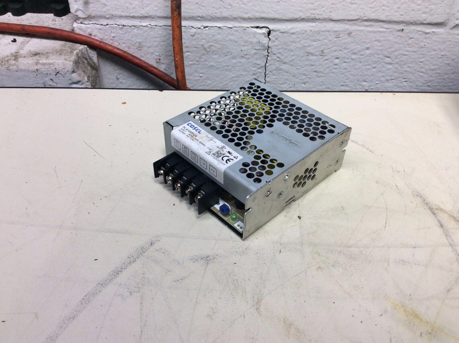 Cosel Power Supply Unit, # PLA100F-24, 24v @ 4.3 A, Used, Warranty