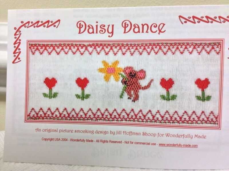 WONDERFULLY MADE SMOCKING PLATE- DAISY DANCE