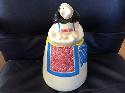 Vintage Good Luck Kitchen Witch Ceramic Cookie Jar