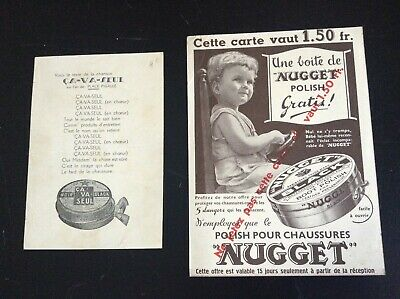 Lot de 2 anciennes publicites Cirage