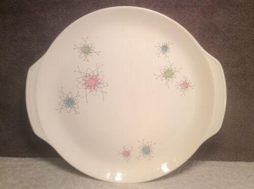 "Salem Dinnerware Ovenproof Platter Handled Cake Plate 12"" Vintage 1960s Design"
