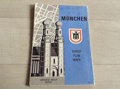 Alte Wanderkarte Reiseführer München Strassenverzeichnis #272 Landkarte