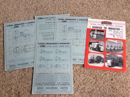 1940s  Brush industrial trucks from England,  sales handout