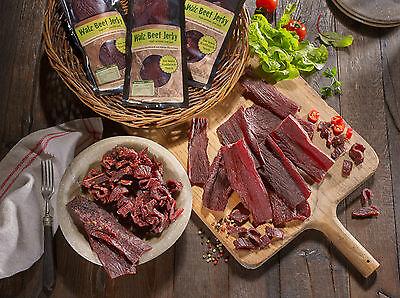 Trockenfleisch 5 mal 100 g,0,5 kg geschnitten Geschmaksrichtung frei wählbar