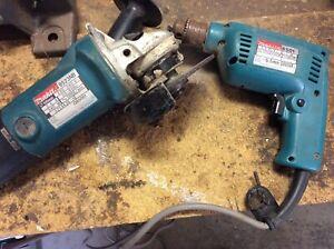 Makita drill & angle grinder