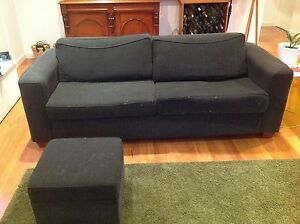 Two matching Charcoal corduroy couches / sofas Evandale Norwood Area Preview