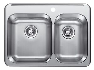 "SS Drop in Double, KITCHEN SINK 28""x21"", 8"" deep for $99!!"