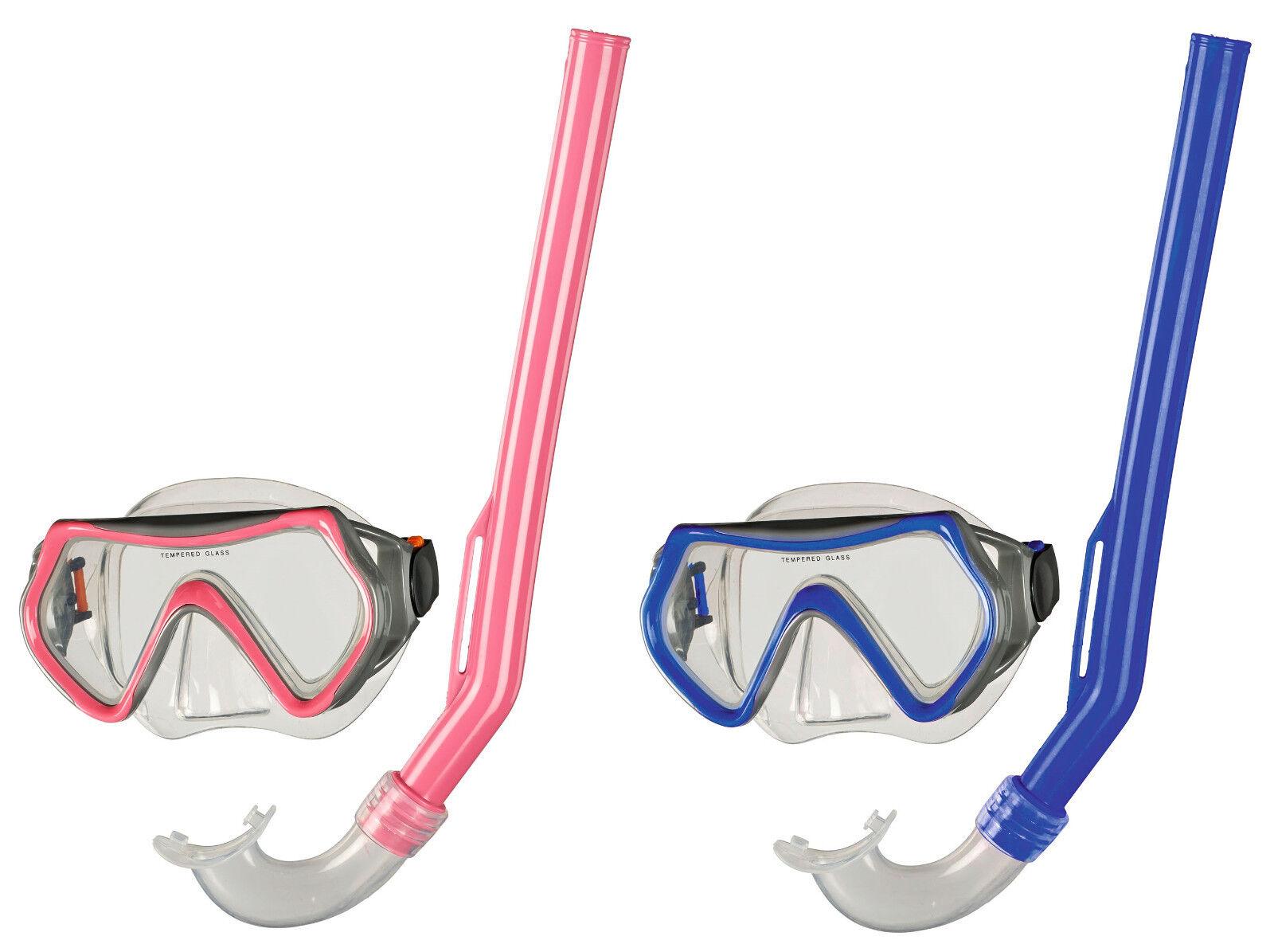 BECO Kinder Schnorchel-Set Tauchermaske Taucherbrille Pula 4+ pink / blau